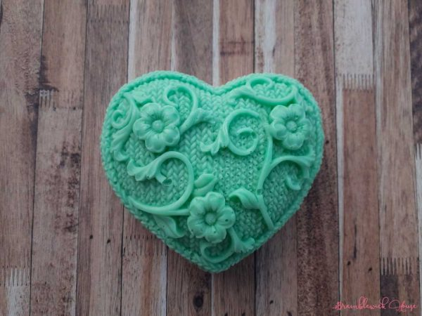 Tea Tree Large Heart Soap