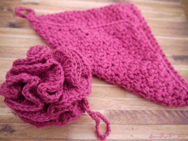 Bramblewick House Wash Ball & Flannel fushia pink