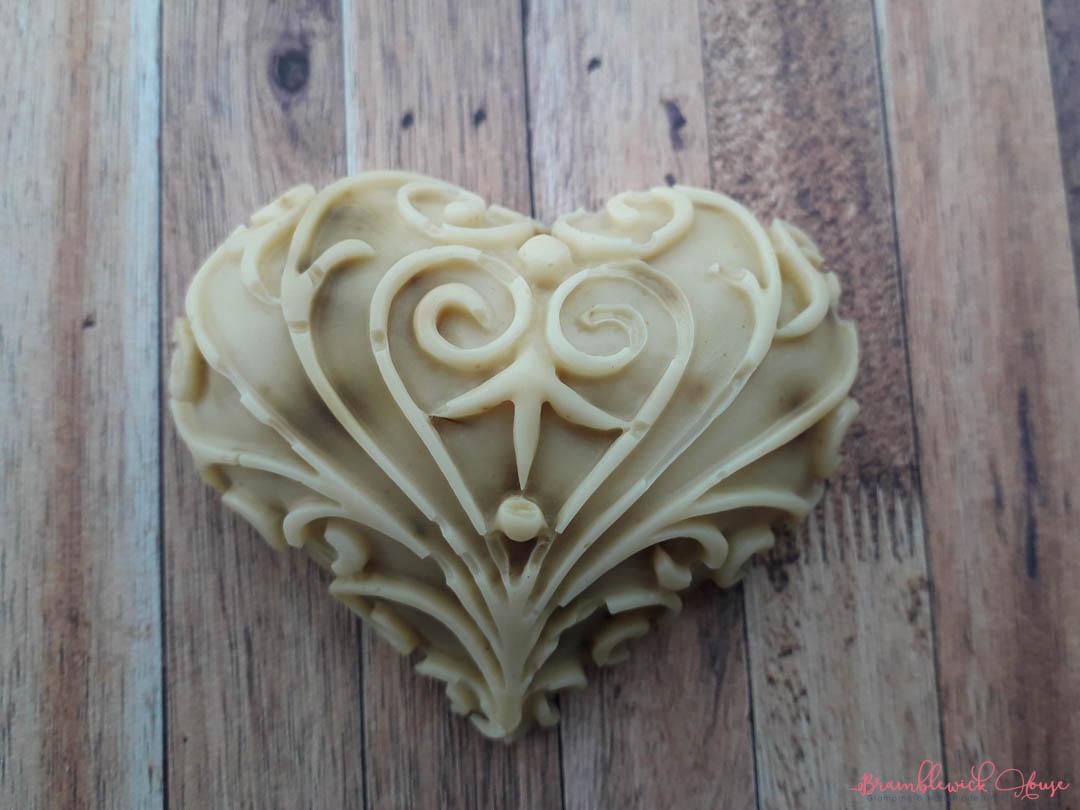Rose and Vanilla Small Heart Soap
