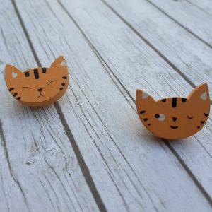 Bramblewick House Ginger Cat Button
