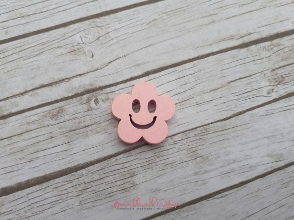 Bramblewick House Smiley Flower Buttons wood