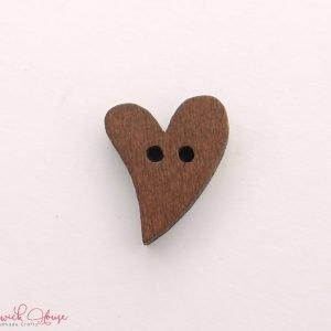 Bramblewick House Wood Heart Buttons