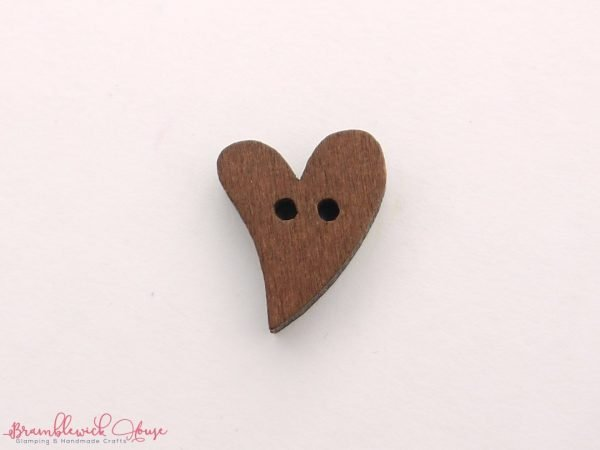 Bramblewick House Wood Heart Buttons