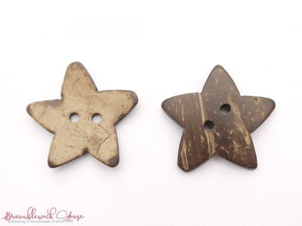 Bramblewick House Coconut Wood Star Buttons