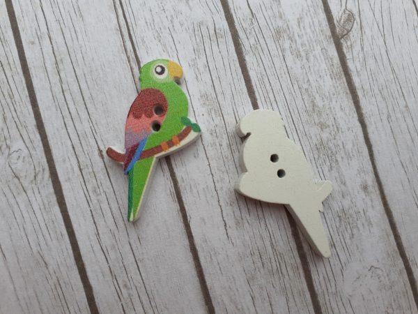 Bramblewick House Parrot Button