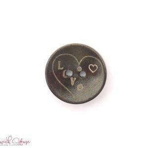 Bramblewick House Wood Love Heart Buttons