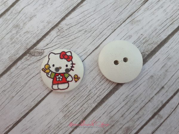 Bramblewick House Kitty Button