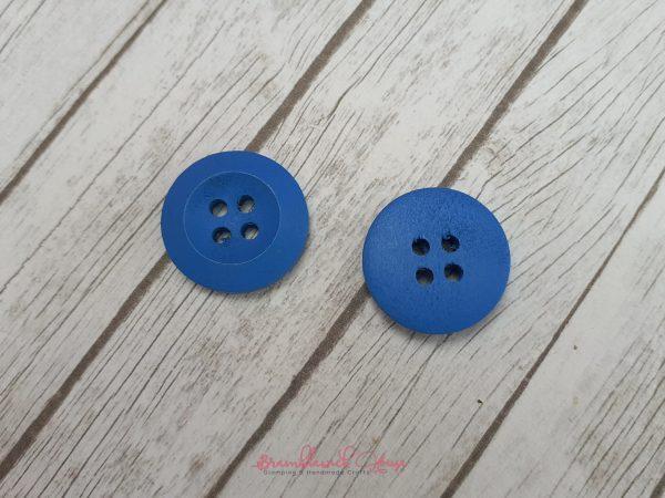 Bramblewick House Bright Round Button Blue