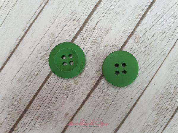 Bramblewick House Bright Round Button Green