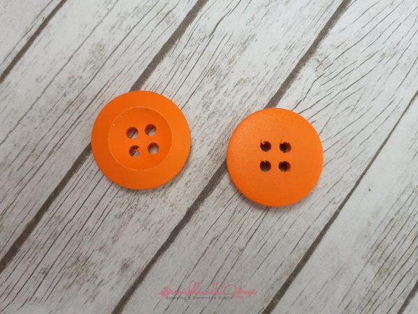 Bramblewick House Bright Round Button Orange