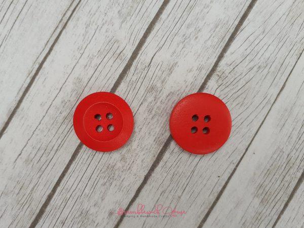 Bramblewick House Bright Round Button Red