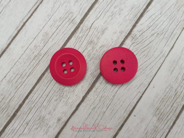 Bramblewick House Bright Round Button Fushia