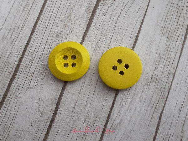 Bramblewick House Bright Round Button Yellow