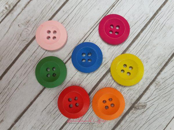 Bramblewick House Bright Round Button
