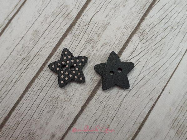 Bramblewick House Star Button Black