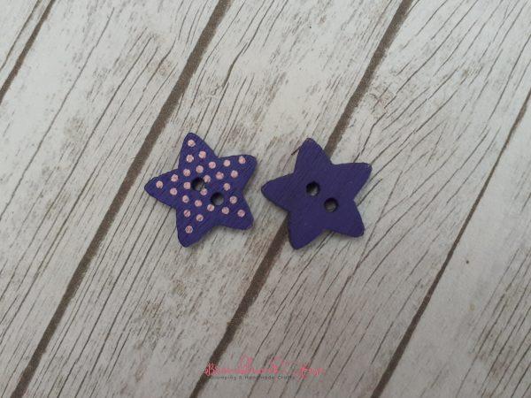 Bramblewick House Star Button Midnight Blue