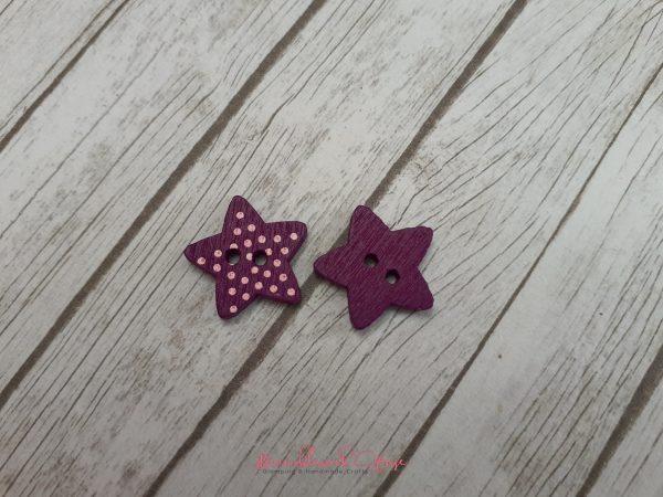 Bramblewick House Star Button Purple
